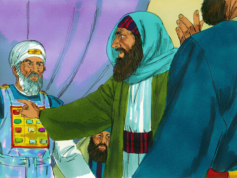However, a respected Pharisee, Gamaliel, asked that the Apostles were taken outside. 'Some in the past have claimed to be the Messiah and gathered followers but none of them have succeeded,' Gamaliel pointed out. 'If these men are using human power they will fail, but if God is behind them you will not be able to stop them.' – Slide 9