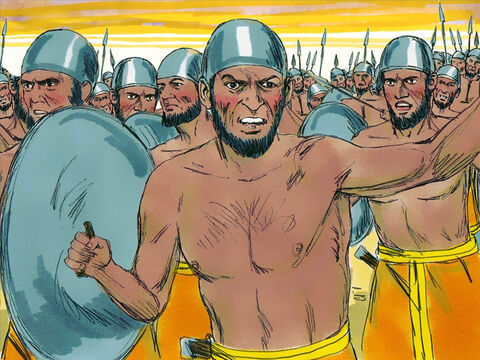 They had one million fighters and 300 chariots. – Slide 7