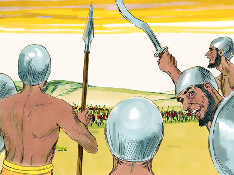 The vast army of Cushites faced King Asa and his men. Asa called out, 'We are relying on you Lord.' – Slide 10