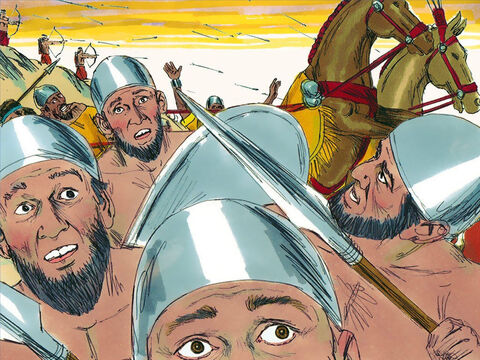 The Lord gave King Asa and the army of Judah the power to overcome their enemy. The army of Cush fled for their lives. – Slide 13