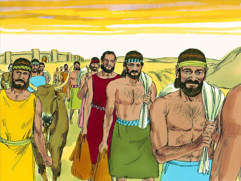 They destroyed the nearby towns and returned to Jerusalem with much plunder including herds of sheep, goats and camels. – Slide 15
