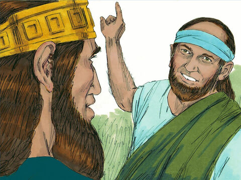 When Asa returned, God sent Azariah, son of Oded the prophet, with a message for the triumphant king. 'Listen to me, Asa and all the tribes of Judah and Benjamin,' Azariah prophecied. 'The Lord is with you when you obey Him. If you seek God, you will find Him, but if you forsake Him, He will forsake you. – Slide 16
