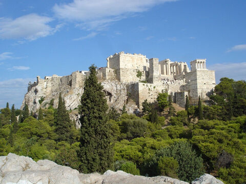 A view of the Acropolis as it is today. – Slide 13