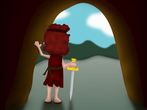 After the prophet Samuel died, David and his men went to live in the desert of Paran. – Slide 1