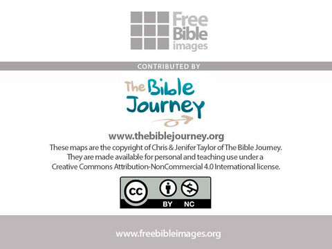 These maps have been kindly donated by The Bible journey web site – http://www.thebiblejourney.org – Slide 12