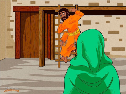 """Early the next morning Mary jumped out of bed and hurried to see her fiancé, Joseph. """"How will I tell him I'm going to have a baby?"""" wondered Mary. She tiptoed along the narrow alleyway to Joseph's home. <br/>Taking a deep breath, Mary pushed open the door. """"Joseph, Joseph,"""" she whispered, """"an angel called Gabriel came to see me. He said not to be afraid. Yah has given us a baby!"""" <br/>Joseph's eyes flew open. An angel had visited Mary? She was going to have a baby? He gulped nervously and scrambled down the wooden ladder from his bed. """"But Mary, we're not married yet,"""" he said. """"How could this happen?"""" – Slide 2"""