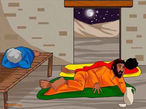 """Joseph was worried. Each night he tossed and turned in his bed. He wanted to do the right thing and take care of Mary, but what if that meant sending her away?  Nazareth was a small town, and Joseph knew that news of Mary's baby would travel fast. He didn't want his neighbors talking badly about her. """"Maybe I should break off the engagement,"""" he thought. <br/>While Joseph thought about these things, an angel of God appeared to him in a dream. """"Don't be afraid to take Mary home as your wife,"""" said the angel. """"The baby she will have was made by the Holy Spirit."""" <br/>When Joseph woke up the next morning, he did what the angel had told him. He took Mary to be his wife. He was ready to trust Yah's plan. – Slide 3"""