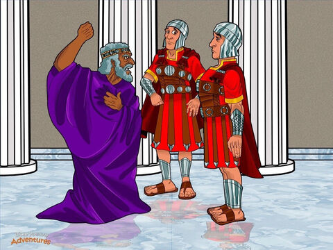 """When King Herod heard the Magi were gone, he was as mad as a firecracker. He paced back and forth, shaking his fists. """"How dare the Magi go back to Parthia!"""" he thundered. """"I've been tricked!"""" <br/>Herod called for his officers. """"Go to Bethlehem and kill all the boys under two years old,"""" he said. """"Destroy this so-called king. I want him gone!"""" <br/>But it was too late. Mary and Joseph had already left for Egypt with the Child. It would be a while before they saw their homeland again, but Yeshua was safe. Little did they know that this was part of God's wonderful plan to restore His people back to the House of Israel. – Slide 17"""