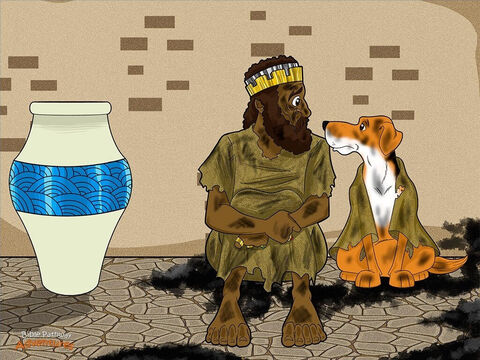 """When the King of Nineveh heard Jonah's message, he leapt from his throne, tore his fine robes and put on sackcloth. Then, he plonked himself down in a big pile of ashes. It might be hard to imagine a king getting so scared, but he had heard all about this mighty God of the Hebrews. <br/>Later that day, the king rose to his feet and made an announcement. """"No person or animal is to eat or drink anything,"""" he said. """"Everyone must wear sackcloth, pray to the God of the Hebrews and give up their wicked behavior."""" <br/>The king turned to his officials. """"Who knows? Maybe Yah will stop being angry and we won't die."""" The king was so serious about Nineveh's repentance that he even made the animals wear sackcloth! <br/>When Yah saw that the Ninevites had given up their evil ways, He decided not to punish them. The people of Nineveh were relieved! – Slide 15"""