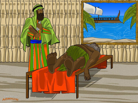 Publius, the governor of Malta, gave the men a place to stay on the island. When Paul found out that Publius' father was sick, he prayed and asked God to heal the man. After this, many people came to Paul to be healed. Everyone treated him with respect and gave him many gifts. <br/>Three months later, the captain was ready to leave for Rome. Paul hurried down to the dock and boarded the ship. He had enjoyed helping the people of Malta, but God wanted him in Rome. <br/>It was time to stand before Caesar, the mighty Roman Emperor! – Slide 15