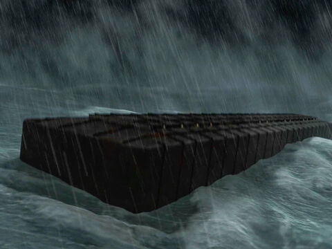 Noah obeyed God's instructions in building the Ark. God closed the door when all to be saved were onboard and protected them during the flood. – Slide 13