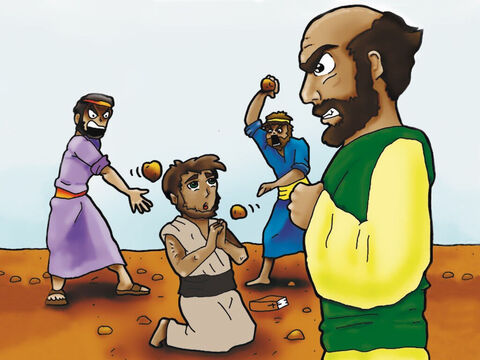 Stephen was a devout follower of Jesus Christ. Because of his faith in Jesus Christ the Jews stoned Stephen to death while Saul (later known as Paul) happily stood by. Paul wanted to persecute Christians so he decided to travel to Damascus to round up the Christians living there and put them in jail. – Slide 1