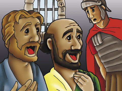 But Paul knew the joy that comes from being a slave of Jesus Christ. Even in prison Paul sang praises to Him! – Slide 3