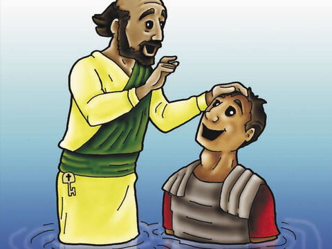 The guard and all of his family believed in Jesus Christ as their Lord and Saviour and were baptised. – Slide 5