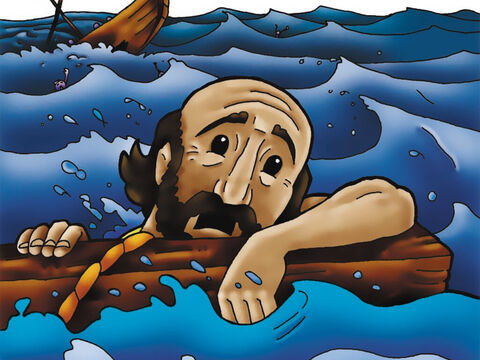 Paul was shipwrecked off the coast of the island of Malta where he was welcomed by the local inhabitants. – Slide 5