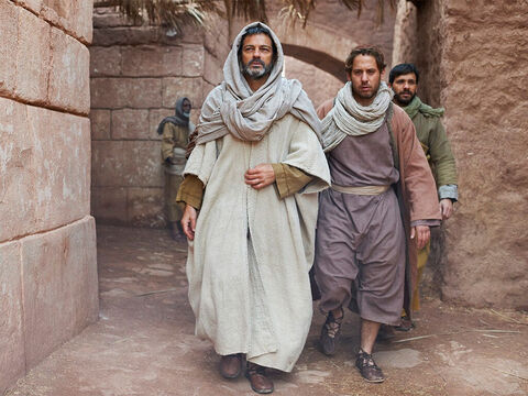 Now as Paul and Silas walked down the road out of the city to go to the place of prayer by the river, this slave girl followed them. – Slide 7