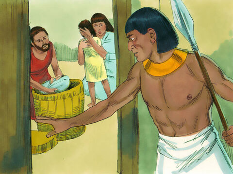 Exodus 1 v 22 So Pharaoh gave orders to his people that every baby boy born to a Hebrew woman must be thrown in the River Nile. – Slide 12