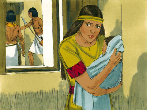 Exodus 1 v 2 But as the baby grew older it became harder to keep him hidden. – Slide 14