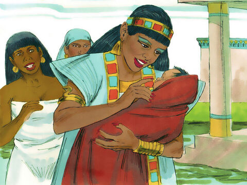 Exodus 2 v 6 When she opened the basket and saw the baby was crying she felt sorry for him. 'This is one of the Hebrew babies,' she said. – Slide 19