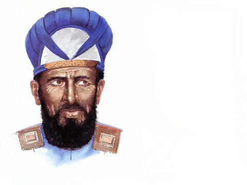 Illustration of High Priest Caiaphas by John Heseltine. – Slide 3
