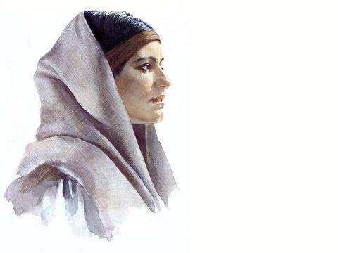 Illustration of Mary Magdalene by Pam Masco. – Slide 1
