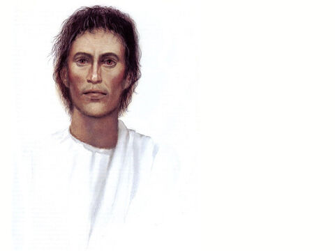 Illustration of Jesus by John Heseltine. – Slide 15