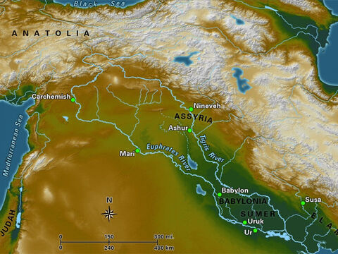 Mesopotamia, 'the land between rivers,' (modern day Iraq) is the birthplace of the earliest civilisations on the planet. Ultimately, these nations developed into the Neo-Assyrian Empire and Neo-Babylonian Empire, which dominated the early first millennium B.C. – Slide 18