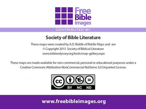 These maps have been kindly made available to FreeBibleimages by the Society of Biblical Literature. – Slide 20