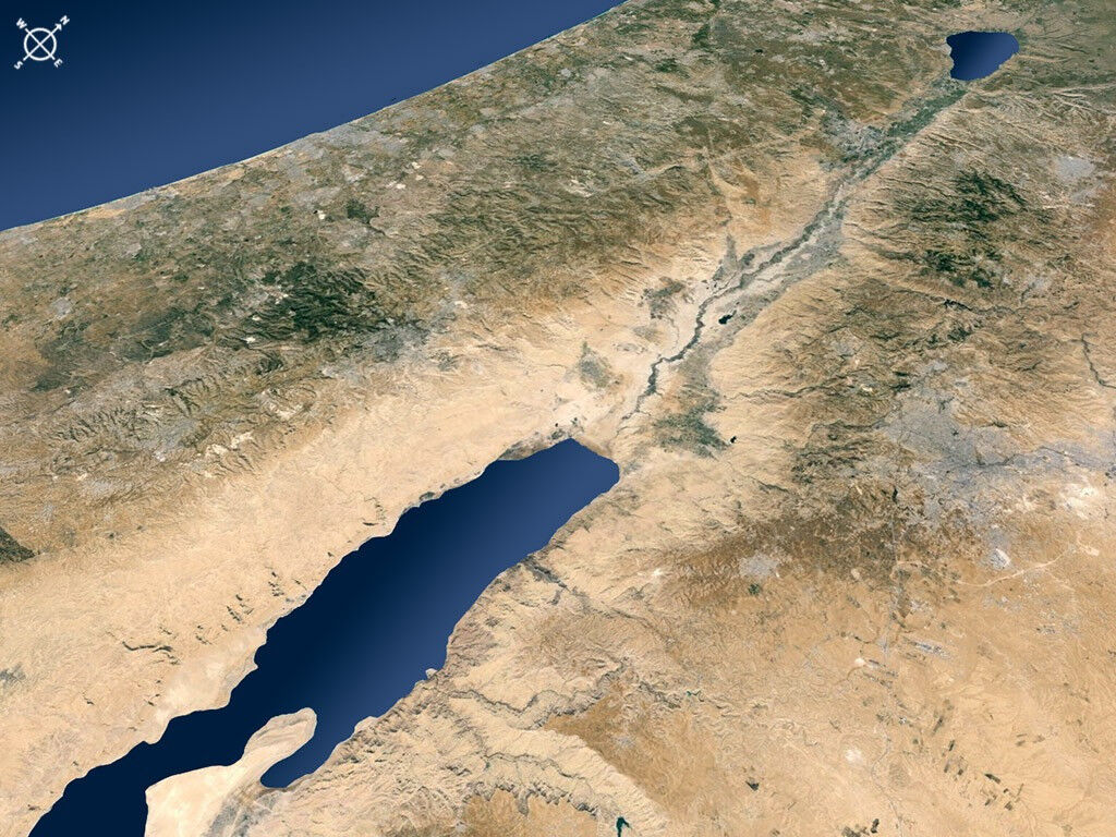 FreeBibleimages :: Blank satellite maps of Israel and Middle ... on