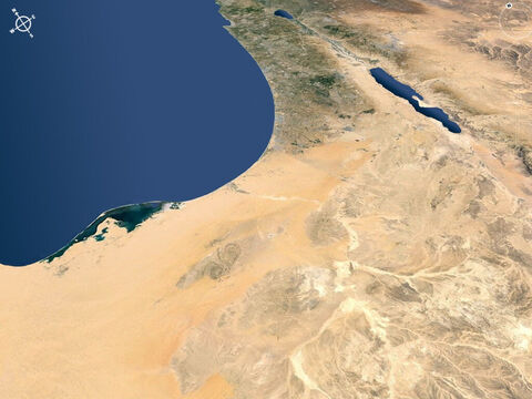 Sinai and the Negev desert viewed from the south-west. – Slide 10