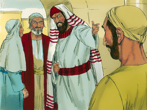 They took the man to some Pharisees who asked what had happened. 'He put mud on my eyes,' the man replied, 'I washed it off and now I can see!' When the Pharisees realised the miracle had taken place on the Sabbath some thought this miracle could not be from God but others insisted it had to be. – Slide 5
