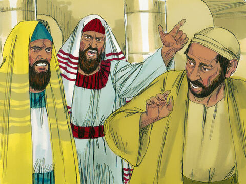 'I have already told you,' the man told them. 'Do you want to become His disciples too?' The Pharisees hurled insults at him. The man protested. 'If the man who did this was not from God, he could not have healed me.' 'How dare you lecture us,' the proud Pharisees retorted. 'You were full of sin from birth.' Then they threw him out. – Slide 8