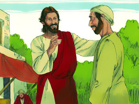 When Jesus heard the man had been thrown out he went looking for him. 'Do you believe in the Son of Man?' Jesus asked. 'Who is he, sir?' the man asked. 'Tell me so that I may believe in him.' 'You can see him now,' Jesus replied. 'In fact, he is the one speaking with you.' – Slide 9