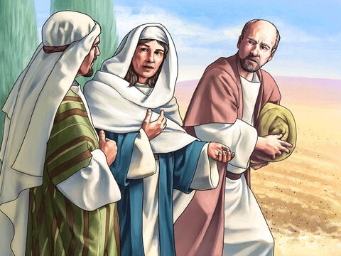 God had raised up a good and wise judge called Deborah to teach them His laws and help them know what was right and wrong. She held court under a palm tree in the hill country of Ephraim. <br/>One day she sent messengers to Barak who lived in the north of Israel to ask him to come and meet her. – Slide 2