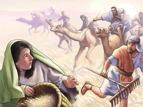 After Deborah the judge died the people of Israel turned away from God to worship idols.<br/>At harvest time for the next seven years the Midianites attacked them to steal or destroy their crops. The people of Israel had to live in caves and places where their enemies could not find them. <br/>Unable to take any more oppression the Israelites cried out to the Lord for help.<br/>A prophet gave God's reply, 'I brought you out of slavery in Egypt and gave you this land and told you not to worship false gods. But you have not listened to me.' – Slide 1