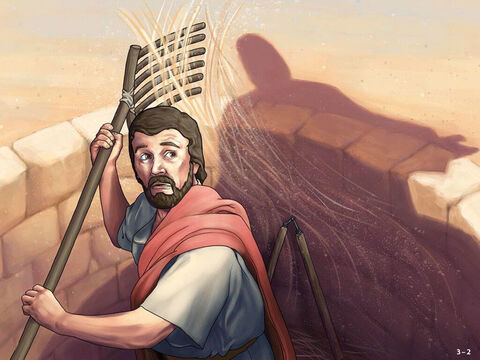 A man called Gideon was threshing wheat he had hidden in a winepress. An angel of the Lord appeared to him saying, 'The Lord is with you, mighty warrior.' <br/>'Pardon me, my Lord,' Gideon replied, 'but if the Lord is with us, why has all this happened to us? The Lord has abandoned us and put us under the control of the Midianites.' <br/>'Go in the strength you have and save Israel from the Midianites,' the Lord replied. 'Am I not sending you?' <br/>Gideon protested, 'But how can I save Israel. My clan is the weakest in this area and I am the youngest in my family.' – Slide 2