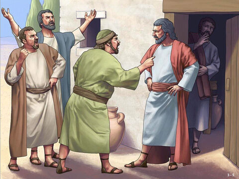 In the morning people saw the new altar and asked, 'Who did this?'. When they found out it was Gideon they went to his father's house demanding he be brought out and killed. <br/>Gideon's father, Joash, replied. Are you going to plead Baal's cause? Are you trying to save him? If Baal really is a god, he can defend himself when someone breaks down his altar.' <br/>So because Gideon broke down Baal's altar, they gave him the name Jerub-Baal that day, meaning, 'Let Baal contend with him.' <br/>When the Midianites gathered to launch a new attack the Spirit of the Lord came on Gideon. He sent messengers to the local tribes to gather ready to attack their enemies. – Slide 5