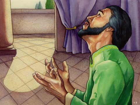 Nehemiah was so upset that he sat down and wept. He went without food and prayed. After praising God, he confessed his sins and those of his people. Only then did he ask God for help. He knew that God had promised that if His people turned back to Him and obeyed His commands, He would bring them back to their land and look after them. So, Nehemiah asked God to give him an opportunity to speak with the King of Persia about the situation. – Slide 4