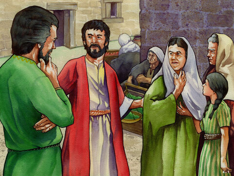 Nehemiah had faced threats from their enemies but now there was a problem among the builders. Many had left their work to build the walls and needed money for food and to pay their heavy taxes to the King of Persia. The poorest people had borrowed money from rich Jews to do this who were charging them high interest rates on their loans. And when they could not repay the loans they were threatening to sell their children as slaves. Nehemiah was angry because these rich Jews were not only greedy but breaking God's law that no Jew must ever make a slave of another Jew (Leviticus 25:39-42). – Slide 1