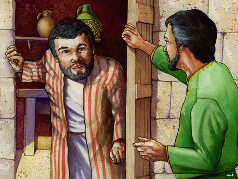 So Nehemiah's enemies tried another ploy. They paid a man named Shemiah, living in Jerusalem, to take a message to Nehemiah warning of a plot to kill him that night. 'Let us hide together in the Holy Place of the temple and lock the doors for no-one will find you there,' Shemiah suggested. <br/>Nehemiah knew that God's law stated that only a priest could enter the Holy Place of the Temple. To hide in the Temple would be to disobey God. He refused to run away or hide in the temple, trusting God to protect him. Nehemiah's enemies had failed again. – Slide 4