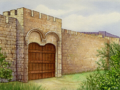 Finally, just 52 days after the project began, the walls and gates were finished. The enemies who had opposed the building work became afraid because they knew that this work had been done with the help of God. – Slide 5