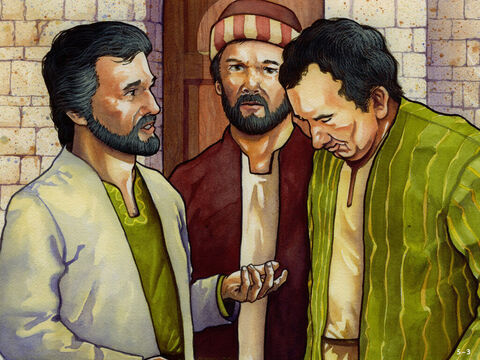 It was the time to encourage people to rebuild the houses in the city and move into them. Firstly, the leaders made their homes in Jerusalem and one in ten of the families living outside the city did the same. Nehemiah put his brother Hanani in charge of the city. Others were put in charge of guarding the gates and giving praise to God in the Temple. – Slide 3
