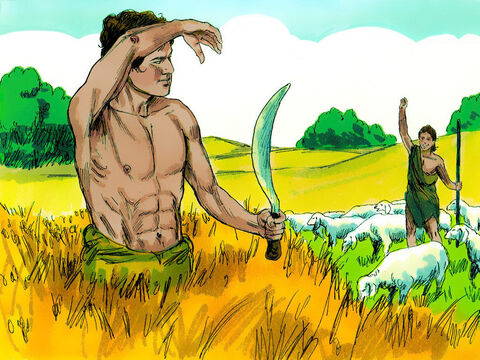 When they grew up, Cain cultivated the ground while Abel became a shepherd.  – Slide 2