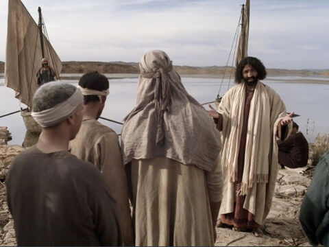 Jesus went into the town of Capernaum. – Slide 1