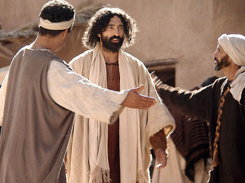 They begged Jesus to come, 'This man really deserves your help. He loves our people and he himself built a synagogue for us.' Jesus set off for the Centurion house. Most Jews did not normally go to the houses of those who were not Jews or have anything to do with the Romans who occupied their land. – Slide 4