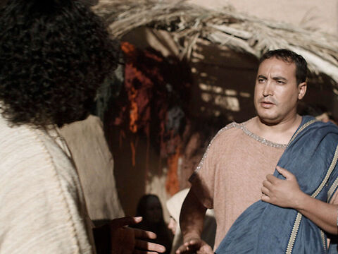 Jesus was not far from the Centurion's house when the officer sent friends with a message. 'Sir, don't trouble yourself. I do not deserve to have you come into my house. – Slide 5