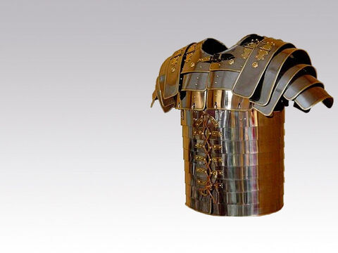 'Put the breastplate of righteousness in place.' – Slide 4
