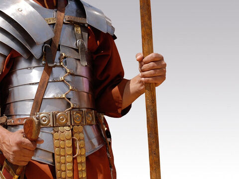 Roman soldier with protective breastplate. – Slide 5