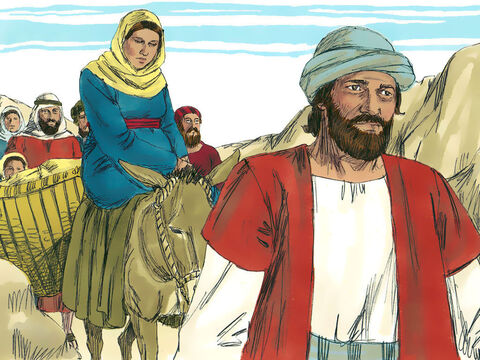 For Mary and Joseph this meant a long trip south to the town of Bethlehem as they were both descendants of King David. Mary's baby was due to be born. – Slide 13