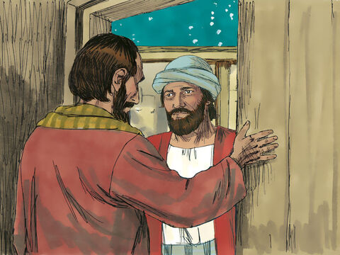 When they arrived there was no room for them in the inn so they spent the night where the animals sheltered. – Slide 14